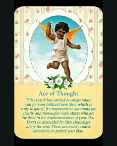 ~Ace of Thought card from Guardian Angel Tarot Cards by Doreen Virtue and Radleigh Valentine~