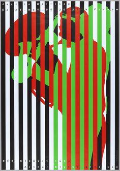 Niklaus Troxler Jazz in Willisau:, Bob Stewart-Arthur Blythe 2005 Not on view Medium Silkscreen Dimensions 35 x 50 x 128 cm) Printer Siebdruck Bösch AG, Luzern Credit Gift of the designer Jazz Festival, Festival Posters, Poster Jazz, Typographic Poster, Typography, Lettering, Plakat Design, Jazz Art, Graphics