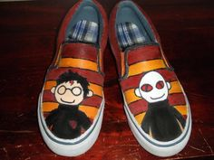 Potter Puppet Pals Shoes by Toledoll on DeviantArt Potter Puppet Pals, Harry Potter Shoes, Photographer Wanted, Sneaker Art, How To Make Clothes, Ron Weasley, Puppets, Doctor Who, Me Too Shoes