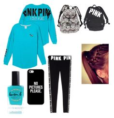 """Lazy dayzzzz"" by kristinvm15 on Polyvore featuring Victoria's Secret PINK, Victoria's Secret, Lauren B. Beauty and Casetify"