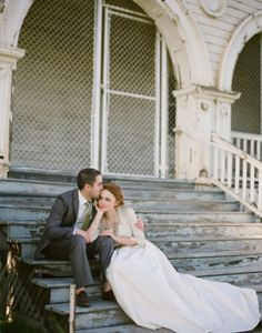 Natalie + Jared – Once Wed – Best Wedding 2020 Wedding Stairs, Wedding Engagement, Engagement Photos, Couple Photography, Wedding Photography, Bridal Cover Up, Best Wedding Colors, Groom Poses, Once Wed