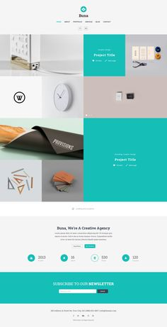Buna PSD Portfolio and Agency Template Buna is a modern and unique portfolio template designed for professionals and freelancers who's looking for a theme which can be used for a Agency, Creative, ...