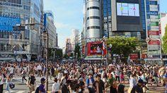 Shibuya, un barrio de Tokio en Japón.