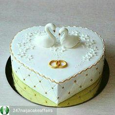 Heart Shaped Cakes, Heart Cakes, Fondant Cakes, Cupcake Cakes, Amazing Cakes, Beautiful Cakes, Bolo Fack, Rodjendanske Torte, Wedding Anniversary Cakes