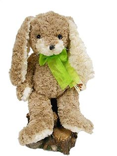 Stuffed Animal: Stuffed Animal Plush Bunny Rabbit Toy Vicky Bunny Brown 14 by Unipak ** Learn more by visiting the image link.