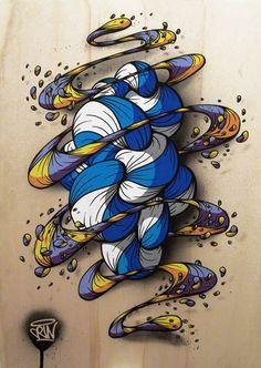 Artist CRIN, an Italian artist based in Berlin
