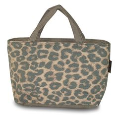 Walk on the wild side with this insulated leopard lunch tote for work or school. Immediate shipping from Simply Bags. Insulated Lunch Bags, Reusable Tote Bags, Personalized Lunch Bags, Lunch Tote, Monogram, Boxes, Spaces, Crates, Monograms