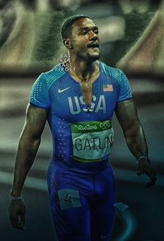 Usain Bolt is beaten and the victor former alleged Drug cheat USA athlete Justin Gatlin. The gold winner was showered with boos. Justin Gatlin, Usain Bolt, Nba News, Sport Man, Track And Field, Lycra Spandex, Athletes, Growing Up, Sexy Men