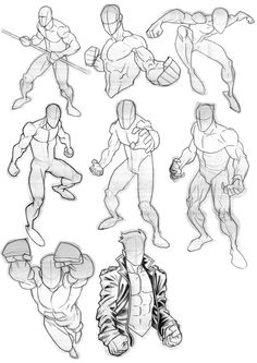 So this is a mixture of my own stuff and some other poses inspired by Invincible artist Ryan Ottley. I try to draw areas that I'm not comfortable with and sometimes it helps to look at other artists to see how they do it. On this page I wanted to learn how to draw the folds in clothing and found a pic of Superbly done by Ryan Ottley, so just broke it down to try and keep it simple.