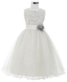 Sleeveless Satin Tulle Princess Flower Girl Dress 9f3e5c547735