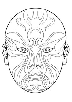 Printable Chinese Masks and Coloring Pages | Fantasy Jr. | fall ...