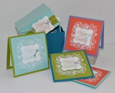 Elementary Elegance 3 x 3 Card Set by csampsel - Cards and Paper Crafts at Splitcoaststampers