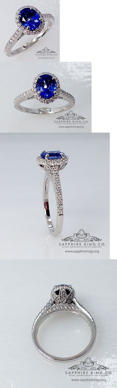 Other Engagement Rings 164308: Gia 18Kt 1.81 Tcw Blue Oval Cut Ceylon Natural Sapphire And Diamond Wedding Ring -> BUY IT NOW ONLY: $2437.5 on eBay!