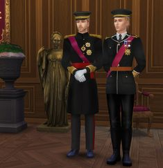 Sims 4 Couple Poses, Couple Posing, 4 Kingdoms, British Uniforms, Men Formal, Formal Wear, Sims 4 Mods, Ts4 Cc, Sims Cc