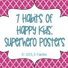 These classroom posters are perfect to display the 7 Habits of Happy Kids. They have a Moroccan tile background, and a superhero theme, which corresponds to my 7 habits books. I hope you like them! Superhero Classroom, 5th Grade Classroom, Superhero Kids, Classroom Posters, Preschool Classroom, Classroom Themes, Superhero School, Seven Habits, 7 Habits