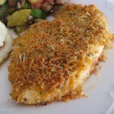 Garlic Cheddar Chicken -  USE GF BREAD CRUMBS: Allrecipes.com