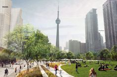 The City of Toronto plans to create an hectare park, named Rail Deck Park, that will cover the railway tracks between Bathurst Street and the Rogers Centre, Mayor John Tory announced Wednesday afternoon. Toronto City, Downtown Toronto, Toronto Star, K Park, Rogers Centre, City Buildings, Lake City, Acre, Sustainability