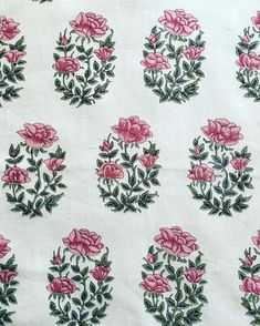 © This design is taken from the decorative border of an old Indian miniature painting. At first glance it looks as if it… Textiles, Textile Patterns, Textile Prints, Textile Design, Embroidery Patterns, Hand Embroidery, Print Patterns, Indian Block Print, Indian Prints