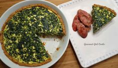 Gourmet Girl Cooks: Greek Style Spinach-Feta Pie -- Low Carb & Grain free #wheatbelly, #lowcarb, #glutenfree