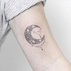 Image result for crescent moon mandala tattoo