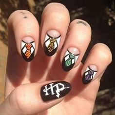August 1: Harry Potter and the Cursed Child Nail Art by @owe_me; see the full nail art gallery at…