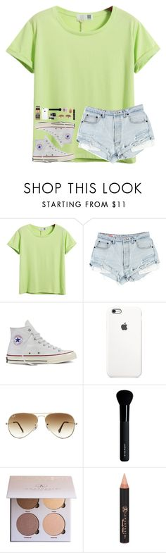 """""""mixing it up"""" by southern-belle606 ❤ liked on Polyvore featuring Chicnova Fashion, Converse, Ray-Ban, Givenchy, Anastasia Beverly Hills and beautyblender"""