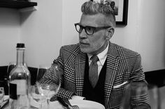 """Nick Wooster in """"The Sartorialist: Lunch for Edition III"""" The Sartorialist, Nick Wooster, Dapper Gentleman, Gentleman Style, Sharp Dressed Man, Well Dressed Men, Stylish Men, Men Casual, Look Man"""