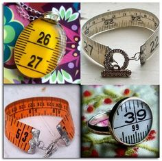 DIY Tape Measure Bracelet and Accessories Recycled Jewelry, Handmade Jewelry, Tape Crafts, Diy Crafts, Craft Projects, Projects To Try, Create And Craft, Diy Schmuck, Bijoux Diy