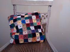 Pillow #Crochet wool - #handmade (Available) L01