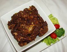 Mutton Fry (updated pic) This is a recipe for delicious Kerala style mutton fried with a blend of exotic spices and regional flavor. Indian Food Recipes, Asian Recipes, Indian Foods, Mutton Recipes Pakistani, Kerala Food, Kitchen Corner, Lamb, Fries, Steak