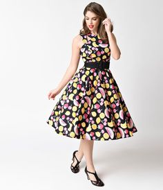 Colourful 50s style dress :)