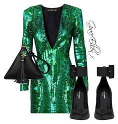 Untitled #49 by miss-grace-ellen on Polyvore featuring polyvore fashion style Balmain Yves Saint Laurent clothing