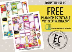 Free Printable School Themed Planner Stickers from Victoria Thatcher