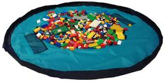 Children Play Mat and a Toy Storage Bag from Bow-Tiger - Multi Purpose Kid's Activity Mat That Folds to a Portable, Toy Organizer. Make Sure Your Child is Having Fun Without Worrying About The Mess!