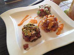 Tuna tartare, makes an impressive first course for a dinner party! #tunatartare #tasteofmexico