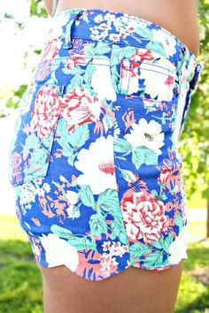 Fantasy Garden Shorts - Royal