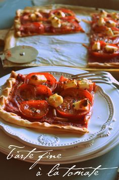 Tarte fine tomates, pignons, kiri et basilic, un régal ! #kiri #recette #tarte #miam #tomate #yummy #kids #food #easy #plat #recipe #cream #cheese #fromage #gourmand