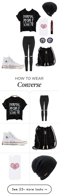 """""""Untitled #531"""" by skyeblizz on Polyvore featuring Topshop, Converse, Vince Camuto, Miu Miu and Coal"""