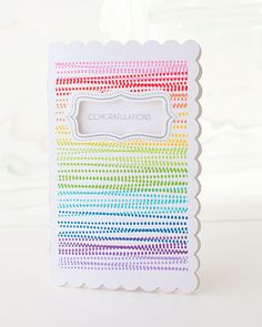 Use a border stamp to create a rainbow card in a snap! #CTMH