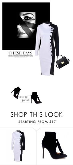 """""""Bnw"""" by theitalianglam ❤ liked on Polyvore featuring GE, dresses, longsleeve and trends2016"""