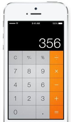 #UI #flat #design 20 Gorgeous iOS 7 Screenshots - Calculator