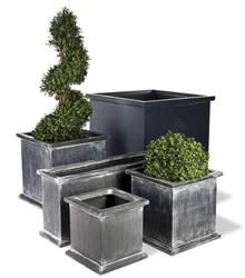 The antique faux lead finish of the Capital Garden Grosvenor Planters has a weathered appearance and is one of Capital Garden's most popular d Large Outdoor Planters, Modern Planters, Planters Around Pool, Large Concrete Planters, Large Garden Pots, Concrete Pots, Trough Planters, Planter Pots, Resin Planters