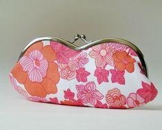 Eyeglass case vintage pink floral by oktak on Etsy, $33.00