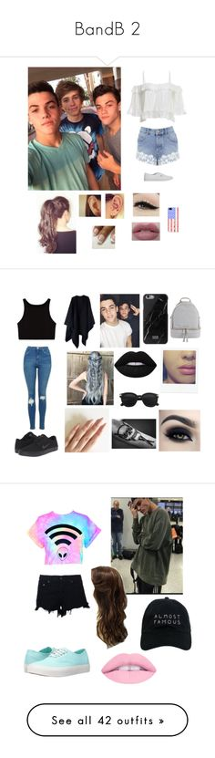 """""""BandB 2"""" by catilynhartzog ❤ liked on Polyvore featuring Dolan, Miss Selfridge, Vans, Anatomy Of, Casetify, NIKE, Native Union, MICHAEL Michael Kors, Lime Crime and Too Faced Cosmetics"""