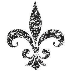 Fleur De Lis In A Circle Vinyl Wall Decal Wall Decals And Walls - Vinyl decals at hobby lobby