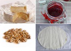 Receta de hojaldre relleno con camembert y dulce de frambuesa. Lee más en La Bioguía.