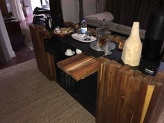 Wooden clad custom server with refrigeration Kitchen, Table, Furniture, Home Decor, Cooking, Homemade Home Decor, Home Kitchens, Mesas, Home Furnishings