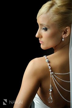 Sparkling Lariat...Draping Back BLING Necklace
