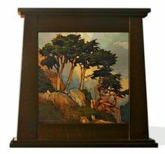 "Jan Schmuckal - oil on solid copper #1 - ""Rising Above The Cliff"" - Craftsman - Arts & Crafts - Bungalow"