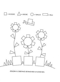 Blog scuola, Schede didattiche scuola dell'infanzia, La maestra Linda, Schede didattiche da scaricare, English Activities, Craft Activities For Kids, Preschool Activities, Art Drawings For Kids, Drawing For Kids, Kindergarten, Numbers For Kids, Shape Art, Classroom Crafts